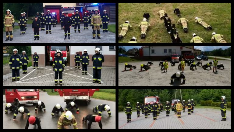 GaszynChallenge robi furorę wśród naszych strażaków. Pompują w szczytnym celu