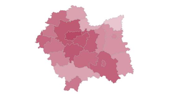 Małopolskie wyniki głosowania. Frekwencja – druga w kraju