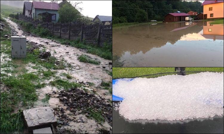 Nawałnica i gradobicie kolejny raz przyniosły szkody w regionie. W gminie Łabowa stan pogotowia przeciwpowodziowego