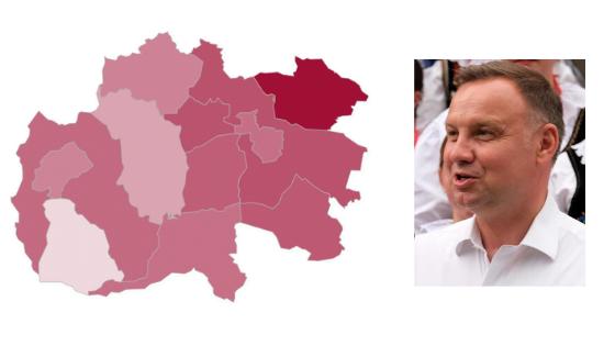 Powiat limanowski z największym poparciem dla Andrzeja Dudy w Małopolsce