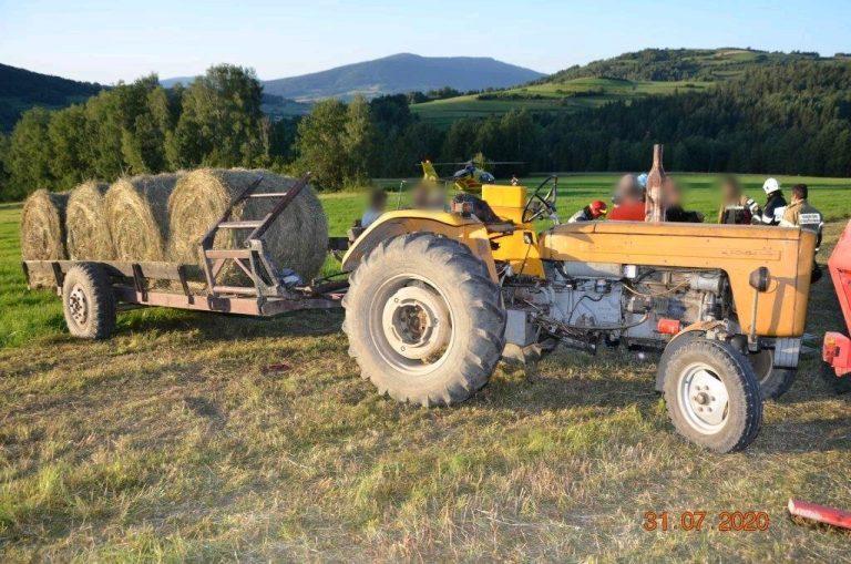 Raba Niżna: tragiczny wypadek przy pracach rolnych. Nie żyje mężczyzna