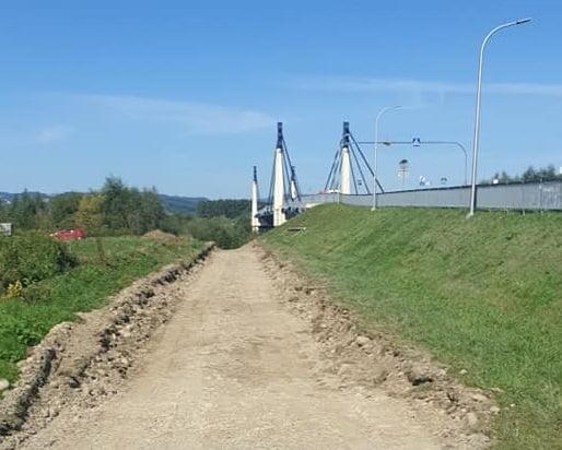 Stary Sącz: ruszyła budowa łącznika Velo Dunajec z Euro Velo 11. Będzie bezpieczniej