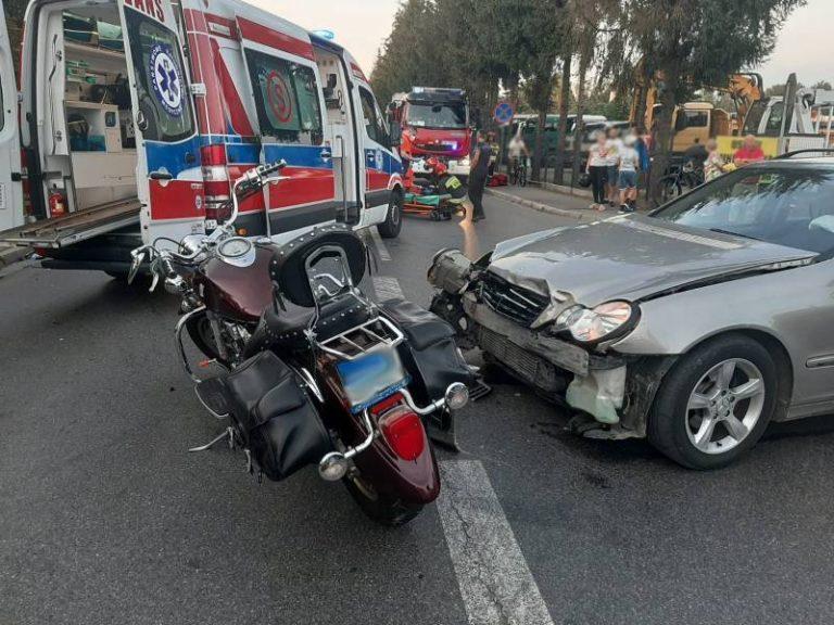 Nowy Sącz: zderzenie na ulicy Tarnowskiej. Motocyklista trafił do szpitala
