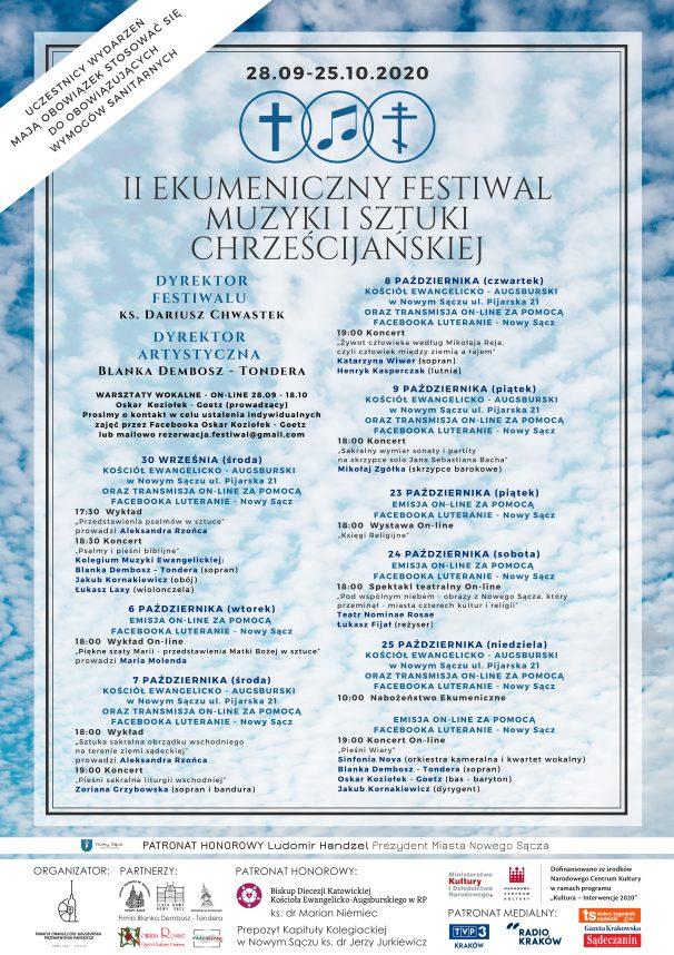 Już wkrótce II Ekumeniczny Festiwal Muzyki i Sztuki Chrześcijańskiej w Nowym Sączu