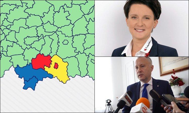 Co z tymi strefami czerwonymi w naszym regionie? Poseł Nowogórska i prezydent Handzel apelują do Ministra Zdrowia