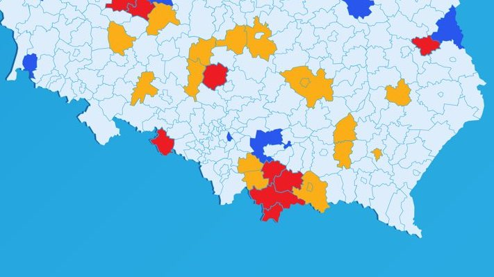 Od soboty nowe żółte i czerwone strefy – niestety, także w naszym regionie