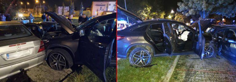 Nowy Sącz, ul. Barska: Kierowca Mercedesa ma na sumieniu pięć aut. Pokonało go… rondo