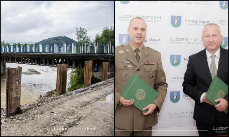 Nowy Sącz/Kamionka Wielka: wkrótce koniec drogowego koszmaru. Most tymczasowy pod koniec miesiąca