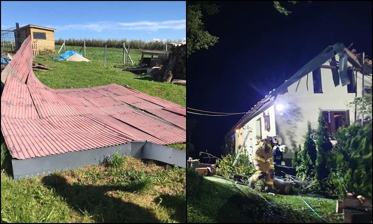 Wichura na Sądecczyźnie: zerwane dachy, połamane drzewa i 57 interwencji strażackich
