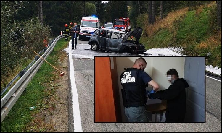 Tylicz: kierowca twierdził, że jechał sam, a ranni współpasażerowie ze Sri Lanki leżeli w zaroślach