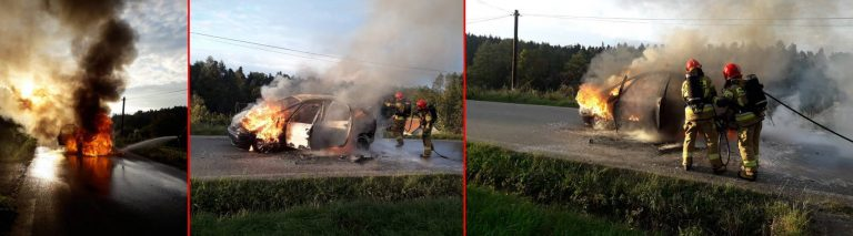 Nawojowa; Nowy Sącz: spłonęły dwa auta