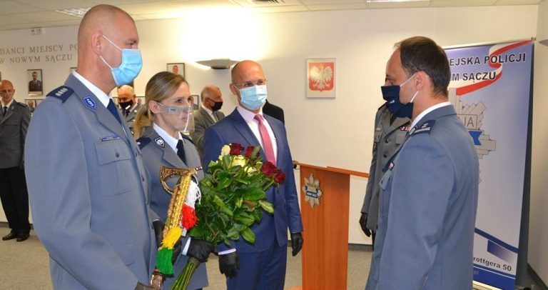 Krzysztof Dymura oficjalnie Komendantem Miejskiej Policji w Nowym Sączu