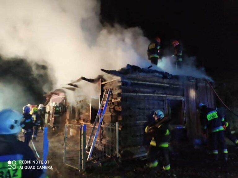 Lipnica Wielka: płonął drewniany dom. Z budynku nic nie zostało
