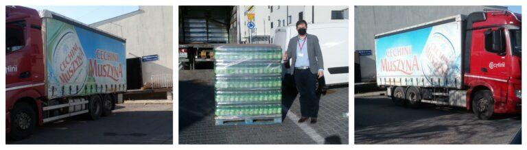 Cechini z pomocą dla ludzi, którzy ratują życie. Do szpitali pojechał transport wody – na zdrowie ratowników i lekarzy