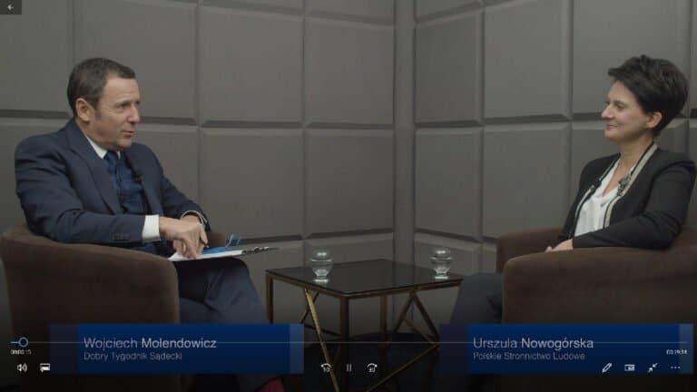 Poseł Urszula Nowogórska: Polska młodzież jest odważna, mądra i otwarta na różne środowiska
