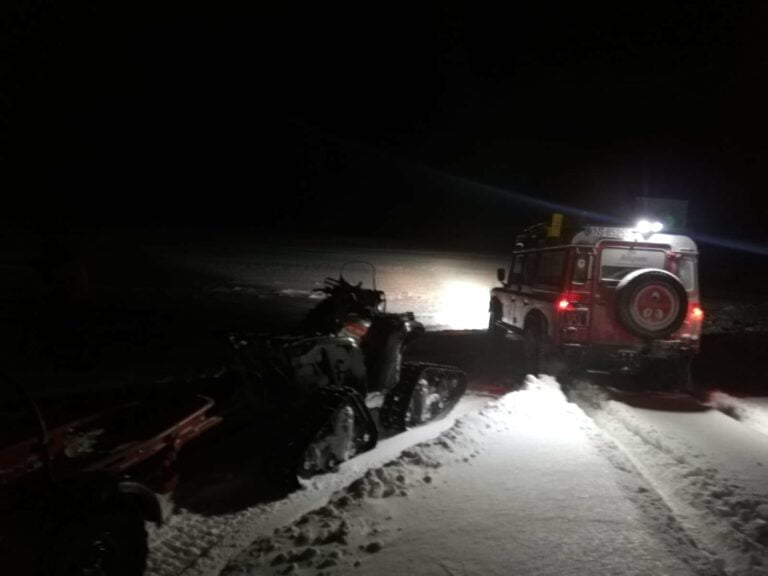 Beskid Sądecki. Nocna akcja ratunkowa GOPR koło Tylicza
