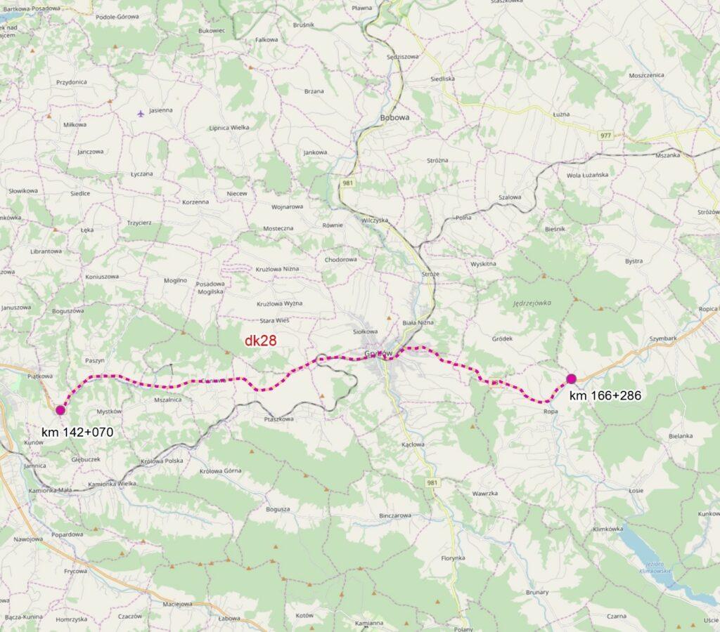 DK28. Rozbudowa drogi Nowy Sącz-Ropa. Umowa na dokumentację projektową podpisana