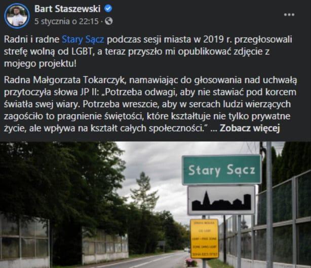 """Aktywista LGBT kontra Stary Sącz. """"Niszczą młodym świat w swojej walce z chochołami"""""""