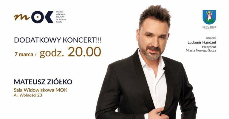 Nowy Sącz, Miejski Ośrodek Kultury, 7 marca: Koncert Mateusza Ziółko