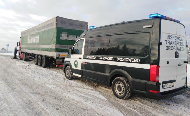 Samochody ciężarowe na górskich drogach pod lupą Inspekcji Transportu Drogowego