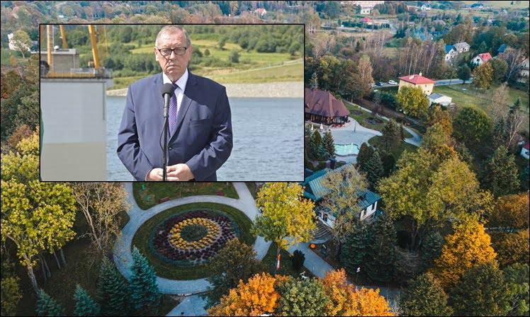 Wysowa-Zdrój. Nie będzie dwumetrowego pomnika Jana Szyszki w parku. Przynajmniej na razie