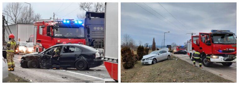 Wypadek na obwodnicy Nowego Sącza