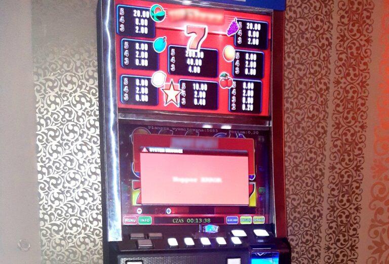 Nowy Sącz. Nielegalny hazard w salonie gier