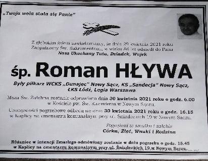 Odszedł Roman Hływa, piłkarz – legenda