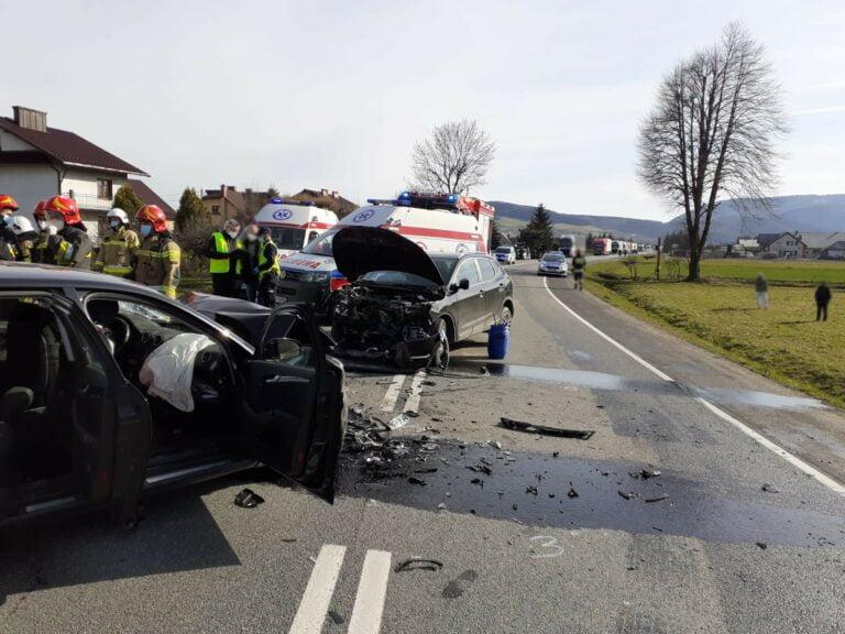 Gmina Łososina Dolna. Uczestnicy wypadku to mieszkańcy powiatu nowosądeckiego i limanowskiego