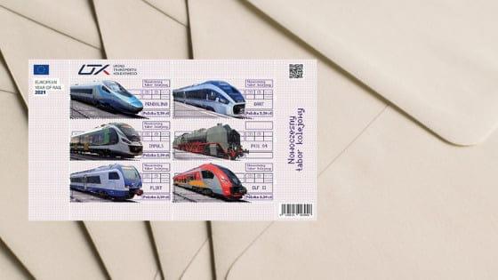 Sądecki akcent na poczcie: znaczki z pociągiem Newagu