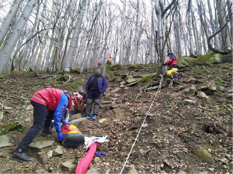 Akcja ratunkowa GOPR na stoku Lackowej. Turystka upadła na stromym szlaku