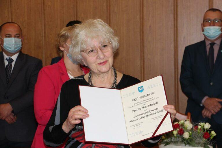 Barbara Paluchowa Honorowym Obywatelem Piwnicznej [VIDEO]