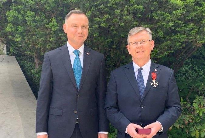 Witold Kozłowski odznaczony Krzyżem Oficerskim Orderu Odrodzenia Polski
