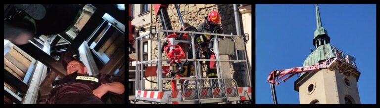 Nowy Sącz. Strażacy w obiektach parafii ewangelicko-augsburskiej