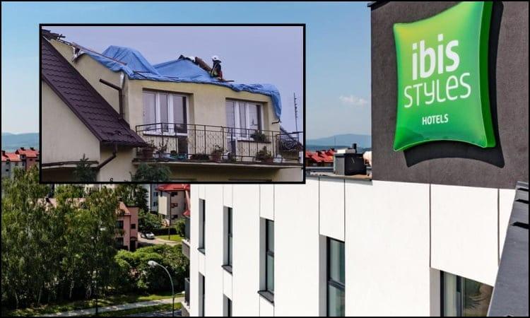 Hotel Ibis Styles oferuje pokoje dla poszkodowanych trąbą powietrzną