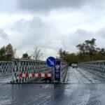Most na Kamienicy, most tymczasowy, budowa