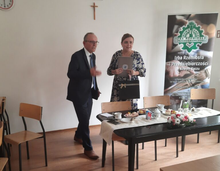 Minister Olga Semeniuk odwiedziła przedstawicieli Izby Rzemiosła i Przedsiębiorczości