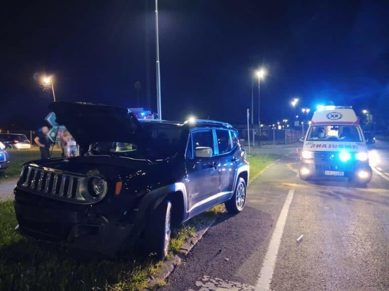 Nowy Sącz. Na rondzie pod szpitalem zderzyły się dwa auta