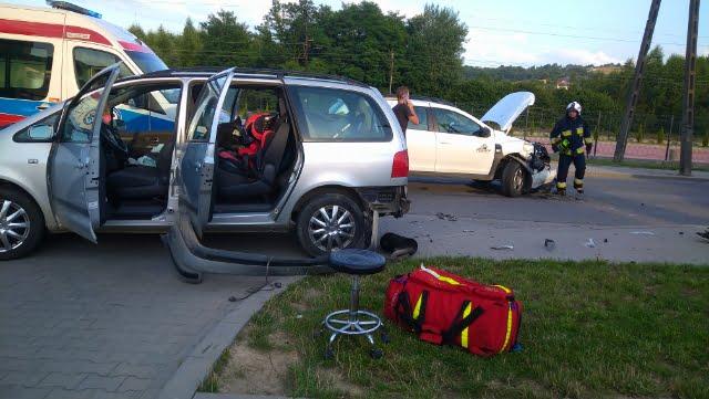 Wypadek w Bobowej. Są poszkodowani