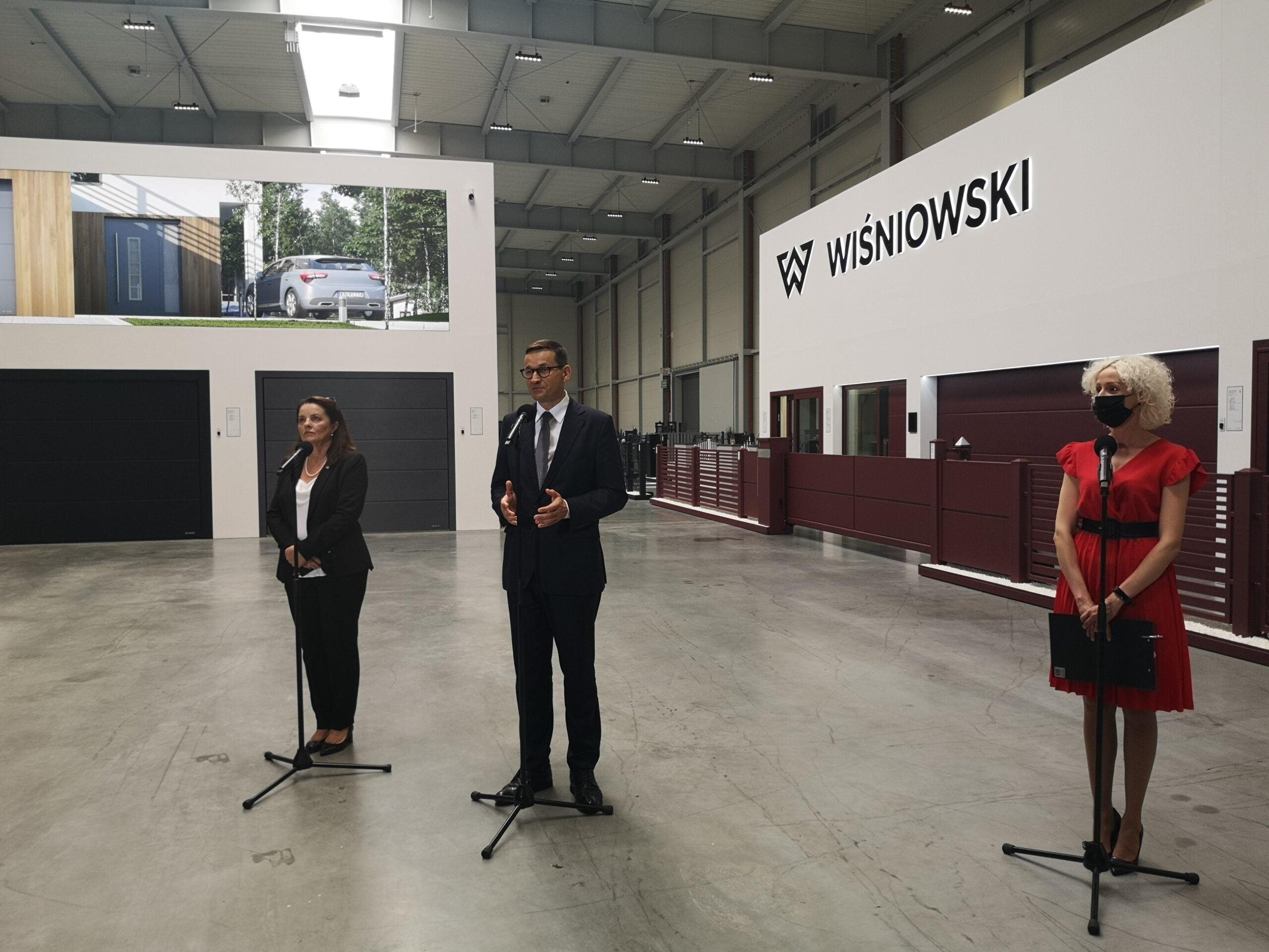 Mateusz Morawiecki w firmie Wiśniowski