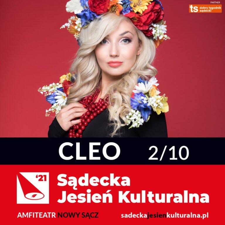 Nowy Sącz, 2 października: Sądecka Jesień Kulturalna, koncert CLEO