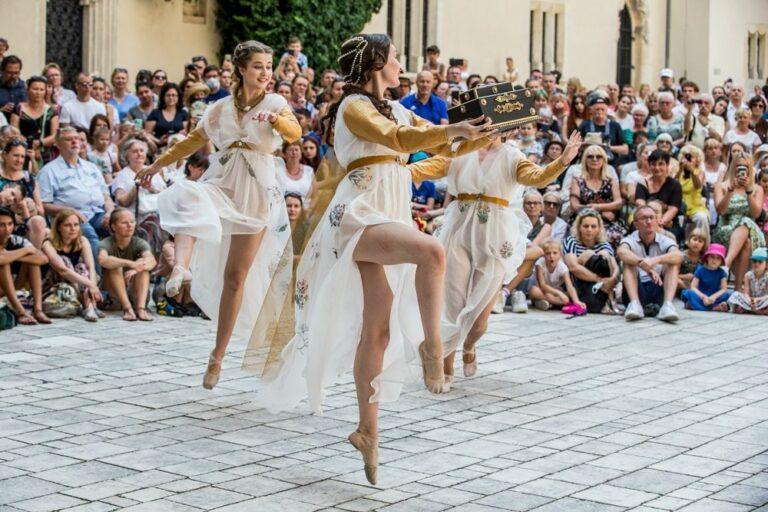 Dwór z aksamitu i pereł – pasjonaci z Nowego Sącza przygotowali pokaz mody renesansowej na Wawelu