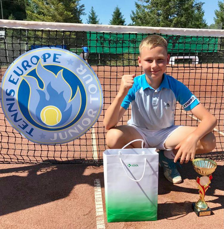 Sądeczanin Wiktor Jeż na turnieju Tenis Europe w Słowenii !