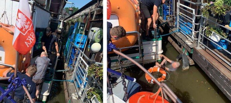Sądeczanin wypadł ze statku do Wisły. Policjanci rzucili się na pomoc