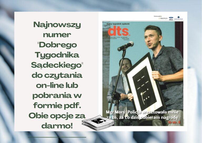 """Najnowszy numer """"Dobrego Tygodnika Sądeckiego"""" już dostępny"""