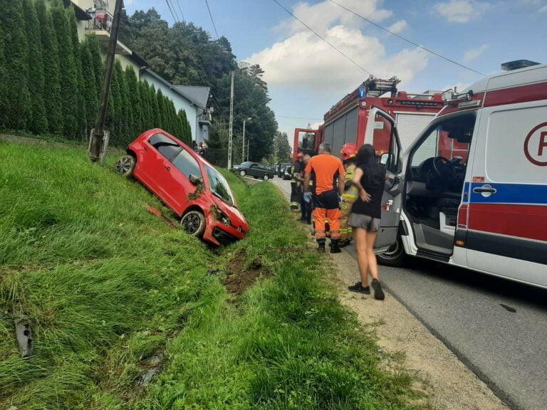 Nowy Sącz. Na ulicy Barskiej samochód wypadł z drogi