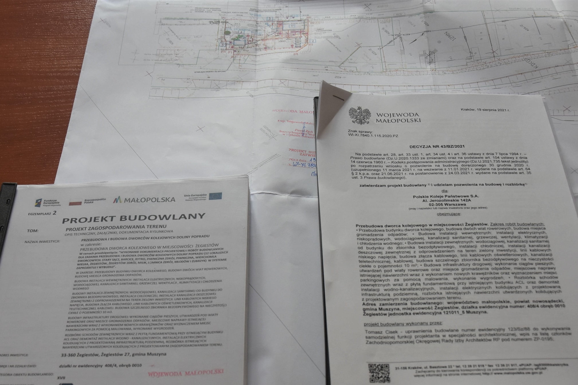Przebudowa dworca w Żegiestowie