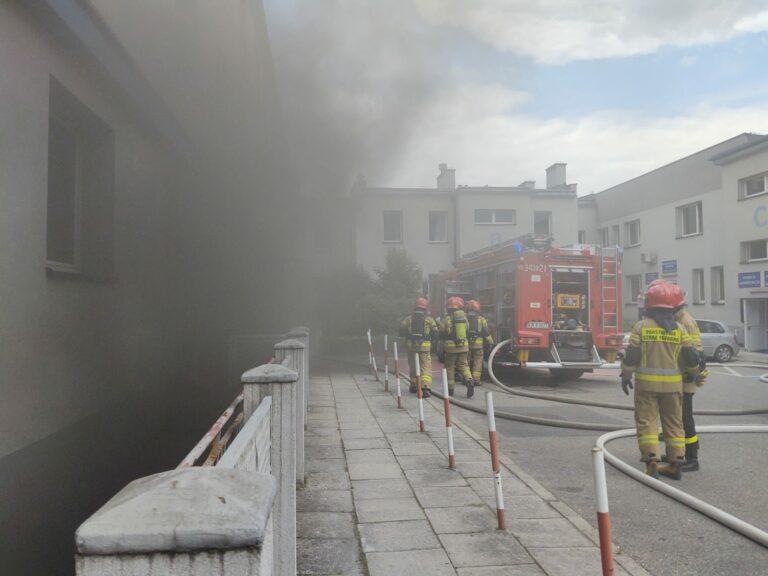 Nowy Sącz. Pożar w przychodni na ul. Batorego