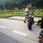 Muszyna - zderzenie motocykla z samochodem osobowym