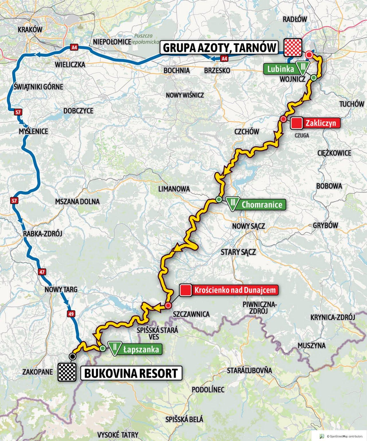 Trasa IV etapu Tour De Polgne
